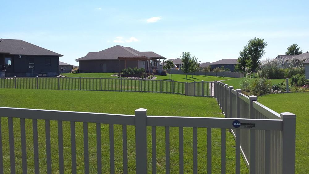Country Estate Vinyl Fence All Seasons Fence Vinyl Fence
